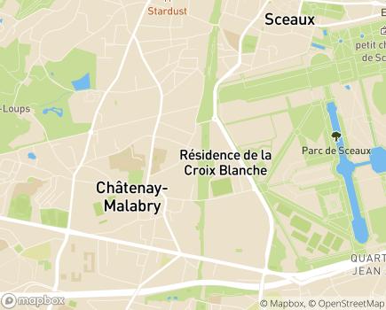 Localisation EHPAD Résidence Hippocrate Groupe Hermes Santé - 92290 - Châtenay-Malabry