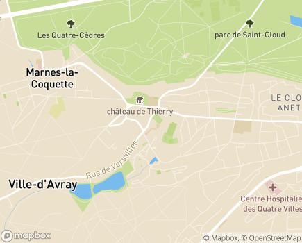 Localisation Centre Communal d'Action Sociale - 92410 - Ville-d'Avray