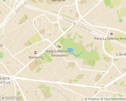 Localisation Centre d'Accueil et de Soins Hospitaliers - 92014 - Nanterre
