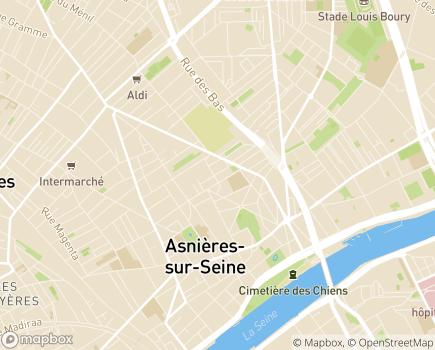Localisation EHPAD Résidence Les Marines - 92600 - Asnières-sur-Seine