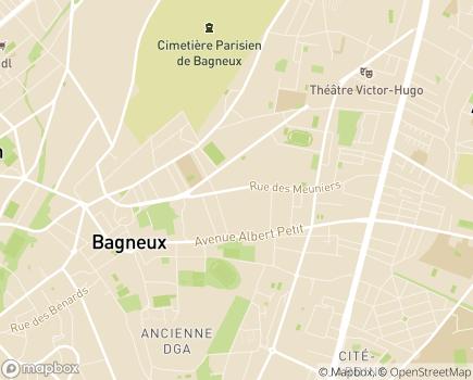 Localisation EHPAD Résidence Le Clos des Meuniers - 92220 - Bagneux