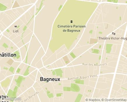 Localisation ESAT Les Ateliers de Garlande - 92220 - Bagneux