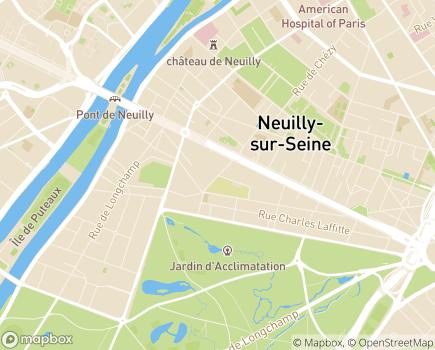 Localisation Foyer d'Hébergement des Graviers - 92210 - Neuilly-sur-Seine
