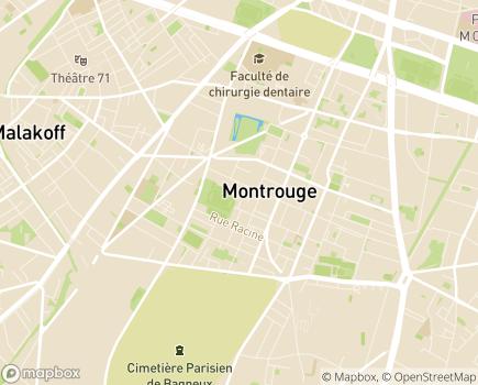Localisation Foyer de Vie Jeany et CITL - 92120 - Montrouge