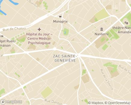 Localisation IME Au Fil de l'Autre - 92000 - Nanterre