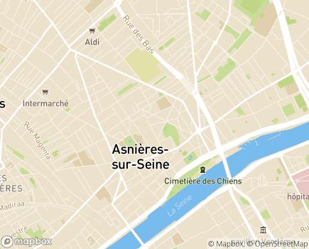 Localisation EHPAD Résidence Rabelais - 92600 - Asnières-sur-Seine