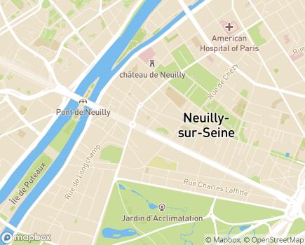 Localisation ANSIAD Association Neuillienne de Soins Infirmiers à Domicile - 92200 - Neuilly-sur-Seine