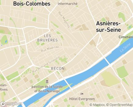 Localisation Service de Soins à Domicile - 92600 - Asnières-sur-Seine