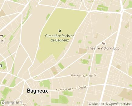 Localisation Centre Communal d'Action Sociale - 92220 - Bagneux