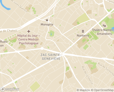 Localisation SESSAD Les Avelines - 92000 - Nanterre