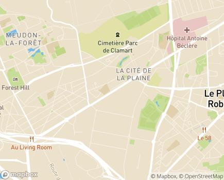 Localisation La Maison de l'Érable Argenté EHPAD - Adef Résidences - 92140 - Clamart