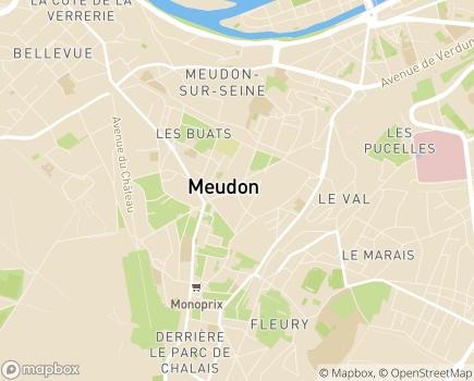 Localisation SSIAD Service de Soins Infirmiers à Domicile - 92190 - Meudon