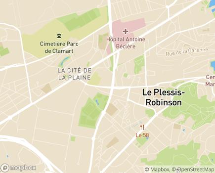 Localisation ESAT Copernic - 92350 - Le Plessis-Robinson