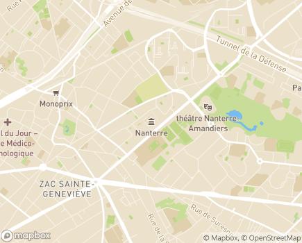 Localisation Service de Maintien à Domicile pour personnes âgées CCAS de Nanterre - 92014 - Nanterre