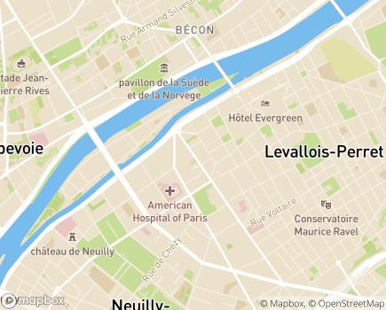 Localisation Association L'Essor - 92200 - Neuilly-sur-Seine