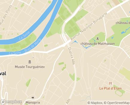 Localisation EHPAD Maison de Retraite La Jonchère - 92500 - Rueil-Malmaison
