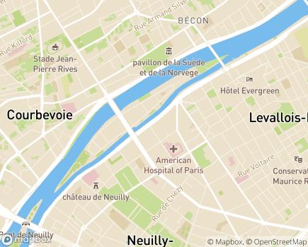 Localisation EHPAD Résidence Les Bords de Seine - 92200 - Neuilly-sur-Seine