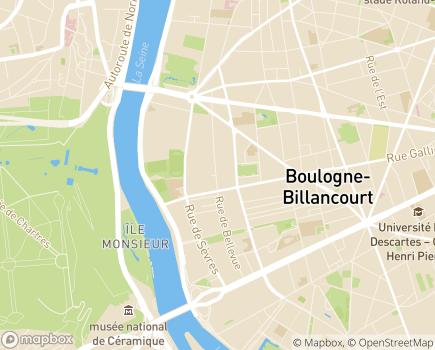 Localisation EHPAD Résidence Le Corbusier - 92100 - Boulogne-Billancourt