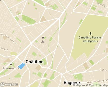 Localisation MAS La Fontaine - 92320 - Châtillon