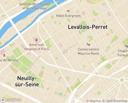 Localisation Sécurité Sociale Ile de France Ouest - 92532 - Levallois-Perret