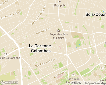 Localisation EHPAD Résidence La Garenne - 92250 - La Garenne-Colombes