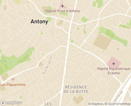 Localisation Croix-Rouge Française SSIAD 92 - Service de Soins Infirmiers à Domicile des Hauts de Seine - 92160 - Antony