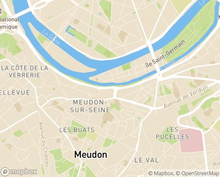 Localisation Foyer de Vie Les Bords de Seine - 92190 - Meudon