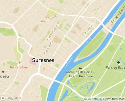 Localisation Résidence Services Seniors Terre de Seine Cogedim Club® - 92150 - Suresnes
