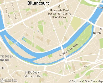 Localisation Résidences Appartements Damiens - 92100 - Boulogne-Billancourt