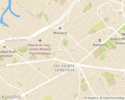 Localisation Servi-Age - 92200 - Nanterre