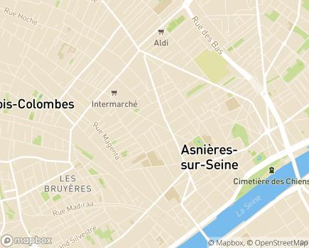 Localisation AuxiFamily - 92600 - Asnières-sur-Seine
