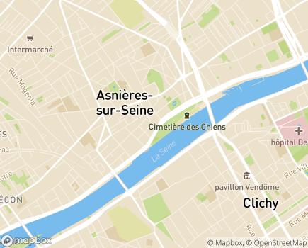 Localisation EHPAD Résidence Port Van Gogh - 92600 - Asnières-sur-Seine