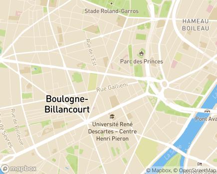 Localisation Vivaservices - 92100 - Boulogne-Billancourt