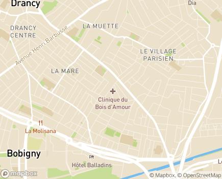 Localisation Clinique du Bois d'Amour (Ramsay - Générale de Santé) - 93700 - Drancy