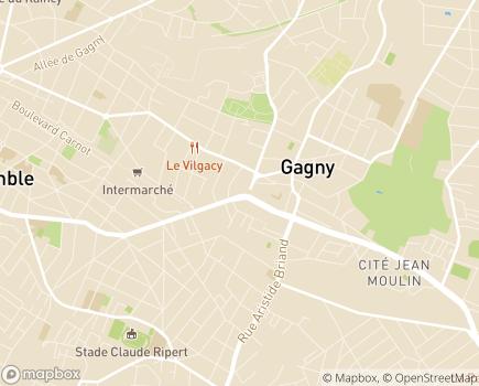 Localisation Résidence pour personnes âgées La Cerisaie - 93220 - Gagny