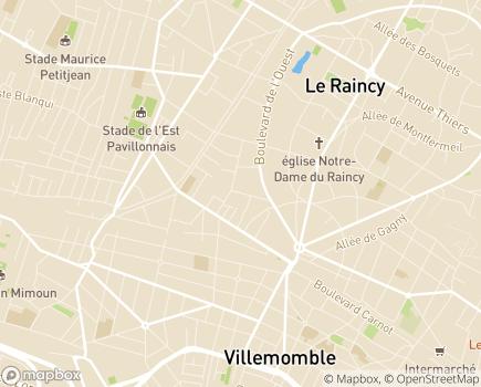Localisation ESAT de l'AIPEI Le Raincy - 93340 - Le Raincy