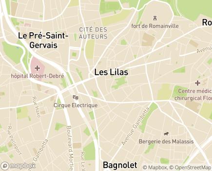 Localisation Maternité des Lilas - 93260 - Les Lilas