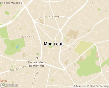 Localisation Centre Communal d'Action Sociale - 93105 - Montreuil