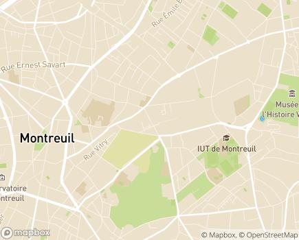 Localisation ESAT Pierre Boudet - 93100 - Montreuil