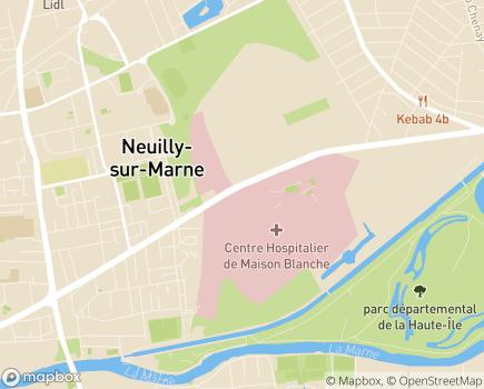 Localisation Etablissement Public de Santé de Ville Evrard - 93332 - Neuilly-sur-Marne