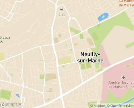Localisation Foyer d'Hébergement AGECET - 93330 - Neuilly-sur-Marne