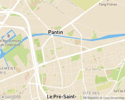 Localisation Foyer de Vie Clothilde Lamborot (APF) - 93697 - Pantin