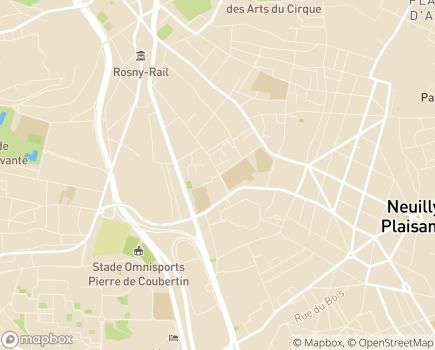 Localisation ESAT Les Ateliers de Rosny - SAS - SAVS - SAMSAH - 93114 - Rosny-sous-Bois