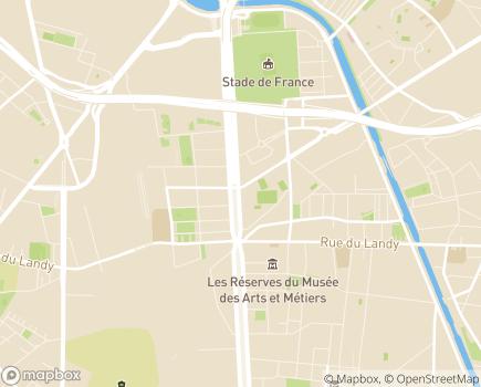 Localisation Sécurité Sociale des Indépendants Ile de France - 93457 - LA PLAINE ST DENIS