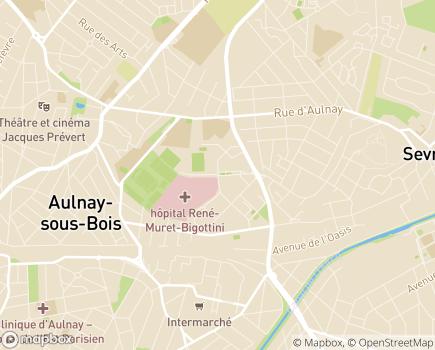 Localisation Hôpitaux Universitaires Paris Seine-Saint-Denis - Hôpital René Muret (AP-HP) - 93270 - Sevran
