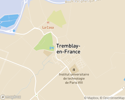 Localisation Foyer d'Accueil Médicalisé Les Myosotis - 93290 - Tremblay-en-France