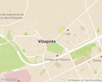 Localisation Maison d'Accueil Spécialisée Saint-Louis - 93420 - Villepinte