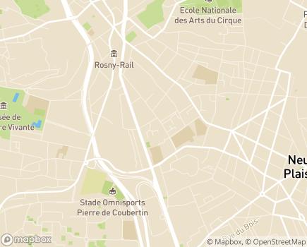 Localisation Korian Le Tulipier - 93110 - Rosny-sous-Bois