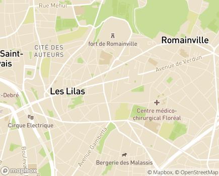 Localisation EHPAD Les Jardins des Lilas - 93260 - Les Lilas