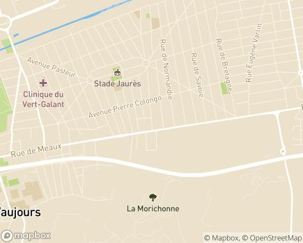 Localisation EHPAD Les Jardins de Longuiolles - 93410 - Vaujours